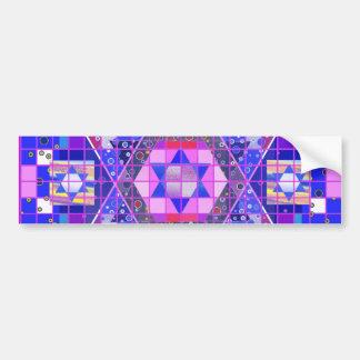 Star of David mosaic Bumper Sticker