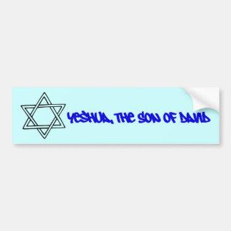 Star of David - Yeshua, The Son of David Bumper Sticker