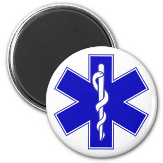 Star of Life 2 Inch Round Magnet