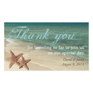 Starfish Ocean Thank You Tag Business Card