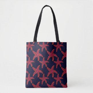 Starfish Zentangle Style Pattern Tote Bag