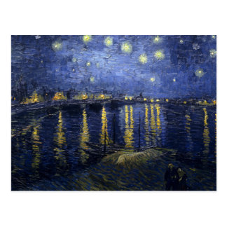 Starry Night Over The Rhone by Van Gogh Postcard