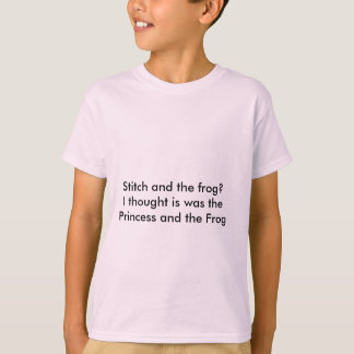 Stitch and the frog t-shirt