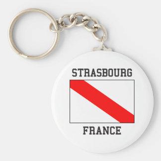 Strasbourg France Basic Round Button Keychain