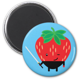Strawberry-Ninja 2 Inch Round Magnet