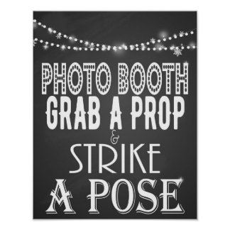 Strike a pose Party Wedding Print poster