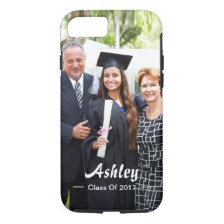 Stylish Script Class of Graduate Photo Portrait iPhone 7 Case