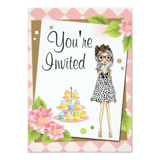Stylish Teen Girl Birthday Party Invitations