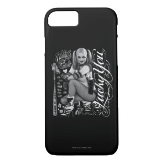 Suicide Squad | Harley Quinn Typography Photo iPhone 7 Case