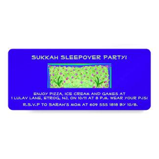 Sukkah Sleepover Sukkot invitation