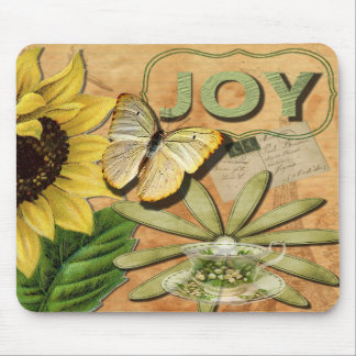 Sunflower & Eiffel Tower Mouse Pad