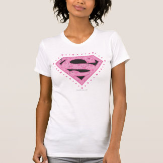 Supergirl Distressed Logo Black and Pink Shirts