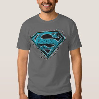 Supergirl Logo Barbed Wire and Flowers Tees