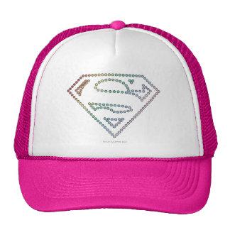 Supergirl Rainbow Outline Logo Trucker Hat