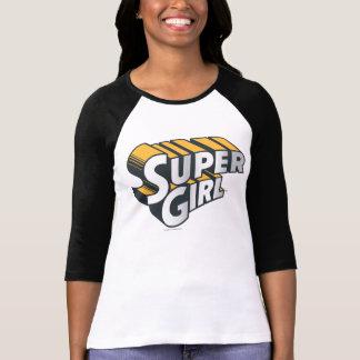 Supergirl Silver and Orange Logo Tee Shirts