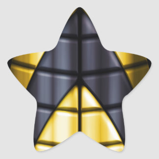 Superheroes - Black and Yellow Star Sticker