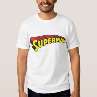 Superman | Yellow Red Letters Logo Tshirts