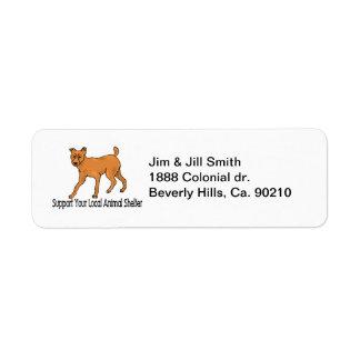 Support Animal Shelters Return Address Label