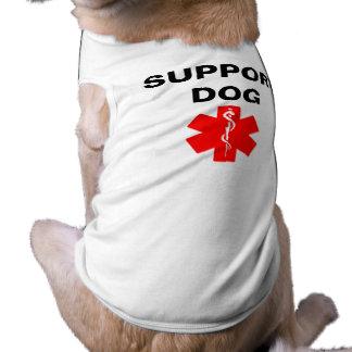 Support Dog Medical Alert Symbol Dog Tank Top Tee Pet Shirt