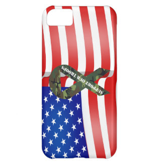 Support Our Troops Green Camo Ribbon iPhone 5C Case