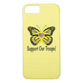 Support Our Troops with Butterfly iPhone 7 Case