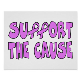 Support The Breast Cancer Cause Poster
