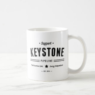 Support The Keystone Pipeline Classic White Coffee Mug
