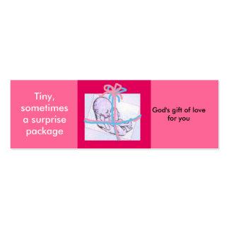 Surprise package - prolife message mini business card