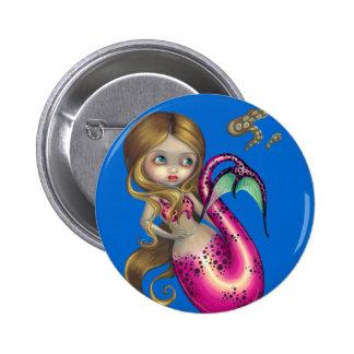 """Surprised Mermaid"" Button"