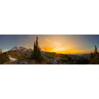 Panorama at sunrise
