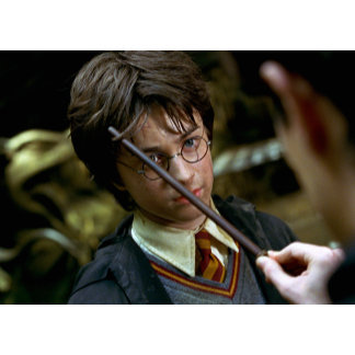 Harry Potter Wand Lifting Hair Revealing Scar