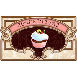 Confection Cupcake Vintage Sign