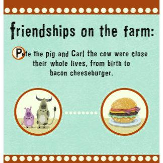 """Farm Friendship Poster Print"""