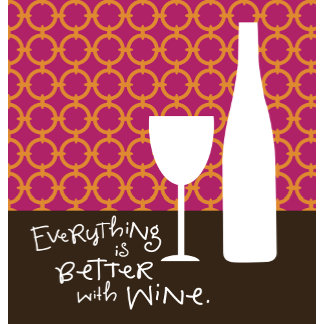 """Better with wine Poster Print"""