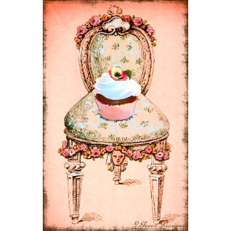 Cupcake and Chair Vintage Style