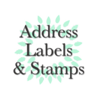 Address labels and postage stamps