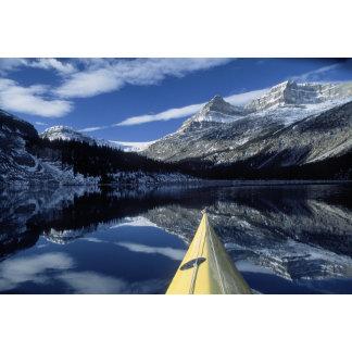 Canada, British Columbia, Banff. Kayak bow on
