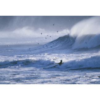 USA, Washington State, La Push. Man kayak