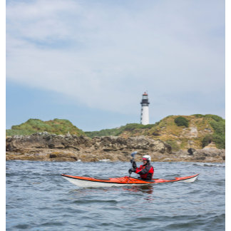 USA, Washington State. Woman Sea Kayaker