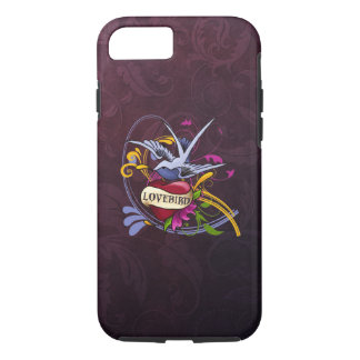Swallow and Heart Tattoo Art iPhone 7 Case