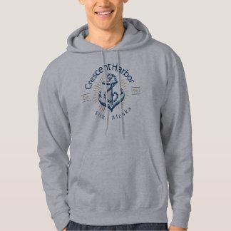 Sweat - shirts à capuche en croissant de port-- sweatshirt à capuche