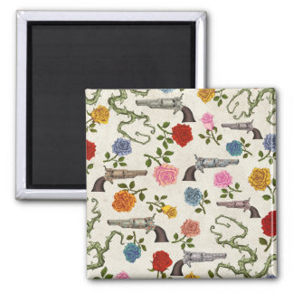Sweet Guns and Roses Fridge Decoration Square Magnet