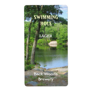 Swimming Hole ~ Beer Label Shipping Label