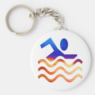 Swimming Success - Cool mind in hot times Basic Round Button Keychain