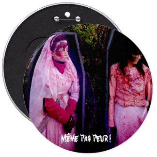 SWIPES IN - Even not fear! 6 Inch Round Button