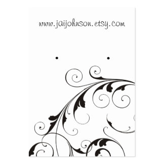 Swirl Background Earring Cards Large Business Card