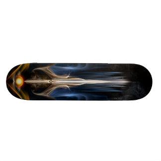 Sword Of Light Fractal Art Skateboard Deck