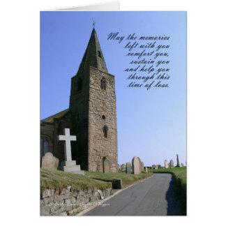 Sympathy Card church St Bartholomew's Church-Newbi