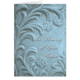Sympathy for Loss of Mother, Blue Plant Forms Greeting Card