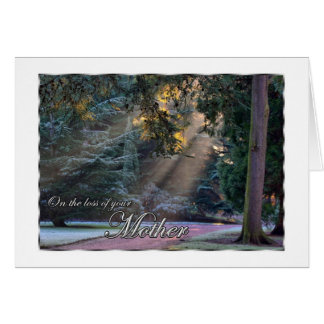 Sympathy on the Loss of Your Mother Sun Rays in Fo Greeting Card